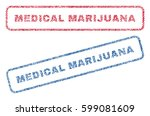 medical marijuana text textile... | Shutterstock .eps vector #599081609
