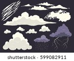 cloud vector set isolated on... | Shutterstock .eps vector #599082911