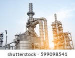 oil and gas industry refinery... | Shutterstock . vector #599098541