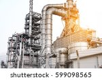 oil and gas industry refinery...   Shutterstock . vector #599098565