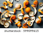 Orange Peel Mandarin Backgroun...