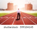 business man competition...   Shutterstock . vector #599104145