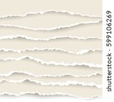 paper torned set   Shutterstock .eps vector #599106269