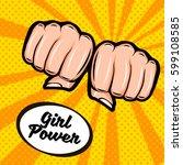 girl power. feminism symbol....   Shutterstock .eps vector #599108585