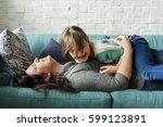 family people feelings... | Shutterstock . vector #599123891