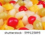 Fruit Salad Texture. Fruits As...