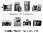evolution of the photo  video ... | Shutterstock .eps vector #599128445