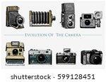 evolution of the photo  video ... | Shutterstock .eps vector #599128451