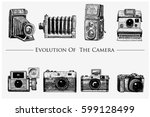 evolution of the photo  video ... | Shutterstock .eps vector #599128499