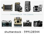 evolution of the photo  video ... | Shutterstock .eps vector #599128544