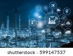 industry 4.0 concept  smart... | Shutterstock . vector #599147537