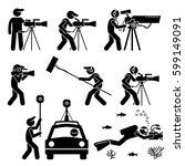 videographer  filmmaker ... | Shutterstock .eps vector #599149091