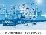 industry 4.0 concept  smart... | Shutterstock . vector #599149799