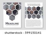 abstract vector layout... | Shutterstock .eps vector #599150141