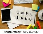 """using innovative technologies... | Shutterstock . vector #599160737"