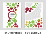 abstract vector layout... | Shutterstock .eps vector #599168525