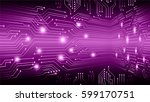 future technology  security... | Shutterstock .eps vector #599170751