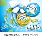 mint flavor gum contained in...   Shutterstock .eps vector #599174894