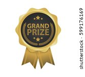 grand prize win gold badges... | Shutterstock .eps vector #599176169