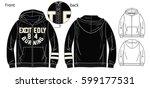 vector illustration of hoodie...   Shutterstock .eps vector #599177531