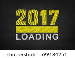 loading new year 2017 | Shutterstock . vector #599184251