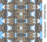 mosaic square colorful pattern... | Shutterstock . vector #599187401