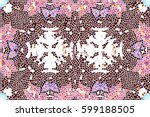 mosaic colorful pattern for... | Shutterstock . vector #599188505