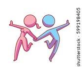 vector cartoon image of a... | Shutterstock .eps vector #599198405