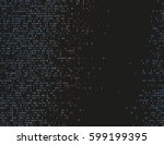 corrupted source code. modern... | Shutterstock .eps vector #599199395