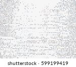 corrupted source code. modern... | Shutterstock .eps vector #599199419