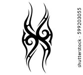 vector tribal tattoo designs.... | Shutterstock .eps vector #599203055