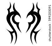 tattoo tribal vector designs... | Shutterstock .eps vector #599203091