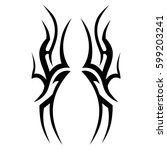 tattoo tribal vector designs... | Shutterstock .eps vector #599203241