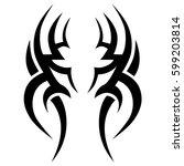 tattoo tribal vector designs.... | Shutterstock .eps vector #599203814