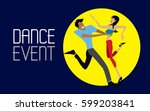 dance event  salsa  rumba ... | Shutterstock .eps vector #599203841