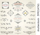 ornate vintage design elements... | Shutterstock .eps vector #599214761
