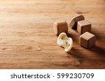 closeup new yellow baby... | Shutterstock . vector #599230709