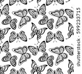 seamless tile pattern ... | Shutterstock . vector #599233715