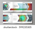 business templates for tri fold ... | Shutterstock .eps vector #599235305