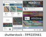 social media posts set....   Shutterstock .eps vector #599235461