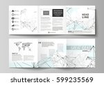 business templates for tri fold ... | Shutterstock .eps vector #599235569