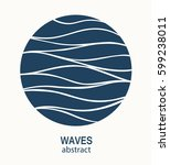 water wave logo abstract design.... | Shutterstock .eps vector #599238011