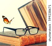 Old Books And Eye Glasses....
