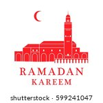 ramadan. greeting card. morocco   Shutterstock .eps vector #599241047