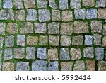 pavement with green grass... | Shutterstock . vector #5992414
