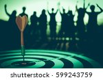 target hit in the center by... | Shutterstock . vector #599243759