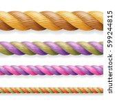 realistic rope vector....   Shutterstock .eps vector #599244815