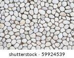 White Pebble Stone On Ground...