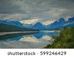 swiftcurrent lake in glacier... | Shutterstock . vector #599246429