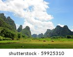 Karst Scenery In Guangxi...